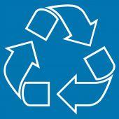 Recyklovat osnovy vektorové ikony