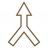 Šipka nahoru tenká linie vektorové ikony připojení