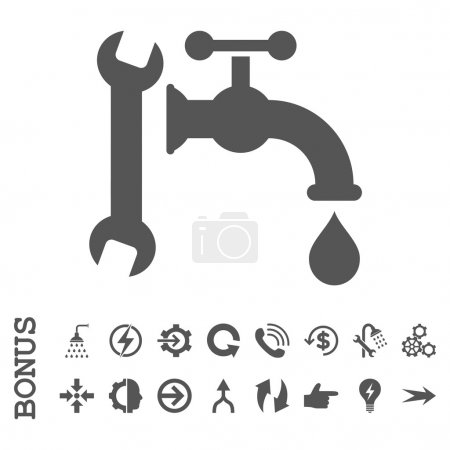 Plumbing Flat Vector Icon With Bonus