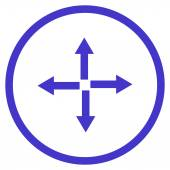 Expand Arrows vector icon Style is flat rounded iconic symbol expand arrows icon is drawn with violet color on a white background