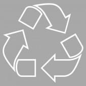 Recyklovat tenká linie vektorové ikony