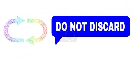 Illustration pour Ne pas jeter et recycler le vecteur. Spectre de recyclage de maille colorée, et la parole ne jetez pas le cadre de bulle. Discours coloré Ne pas jeter bulle a ombre. - image libre de droit