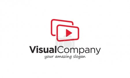 Visual videos symbol stock logo illustration