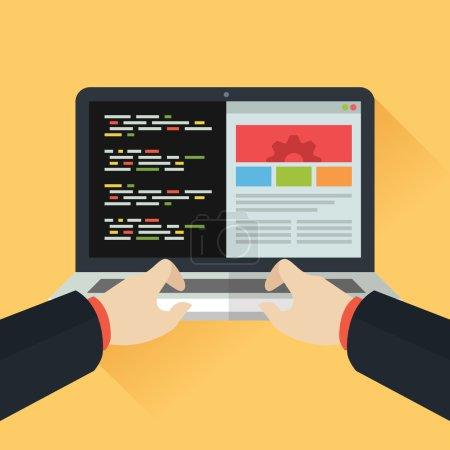 Best Website Development Coding Stock illustration