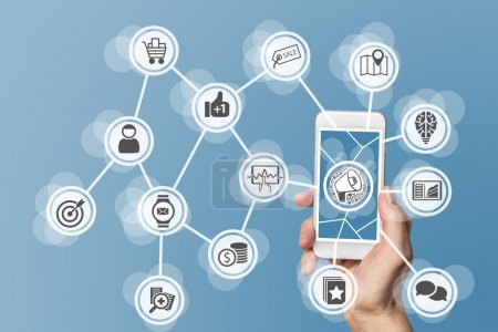 Digital online marketing enabled by mobile phone and social media as well as digitization