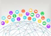 World wide web and internet of things concept