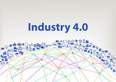 Industry 40 vector illustration background Internet of things