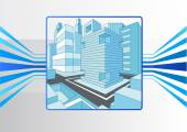 Smart city and IOT concept as vector illustration