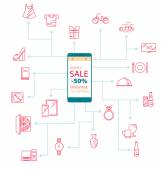Modern Mobile Internet Shopping sale