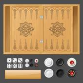 Template backgammon games
