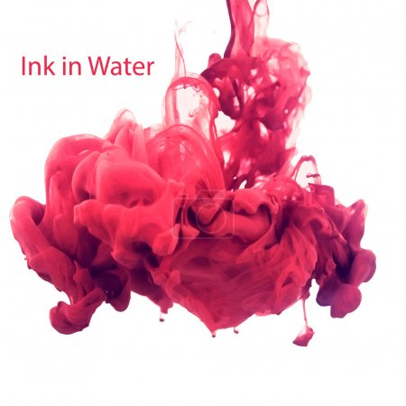 Bright red ink