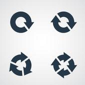 Circle arrows icons