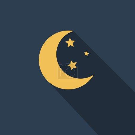 Yellow moon and stars