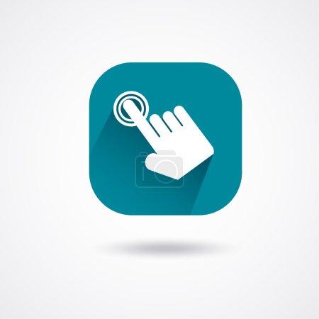 White touch icon
