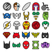 Superheroes set icons