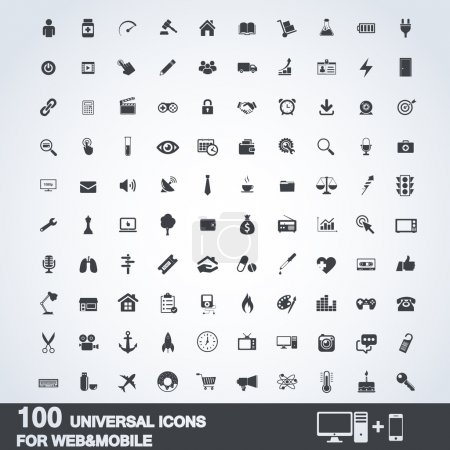 100 Universal Outline Icons