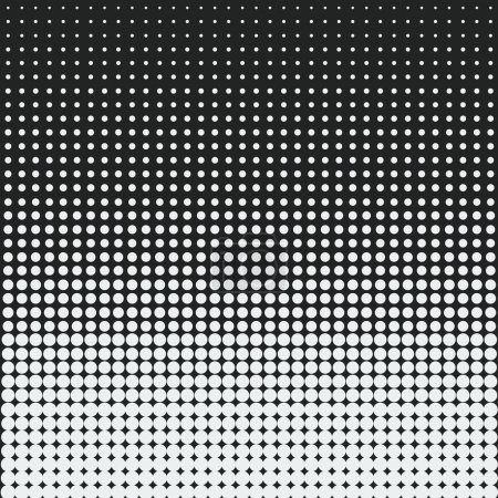 White dots against black background