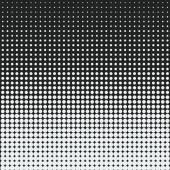 White dots against black background