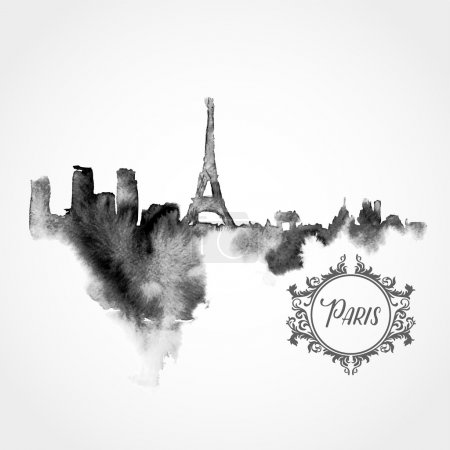 Black Paris silhouette