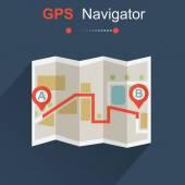 GPS navigator map