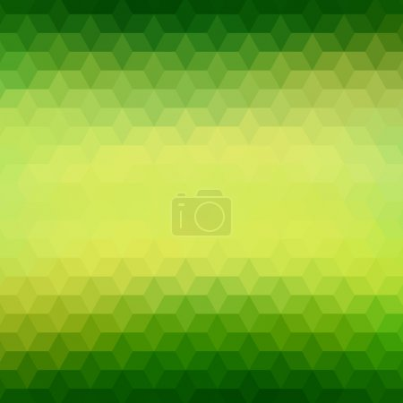 Illustration for Polygonal geometric background with color gradient on triangles or diamond shapes pattern. Abstract vibrant green blurred mosaic wallpaper for banner design template - Royalty Free Image