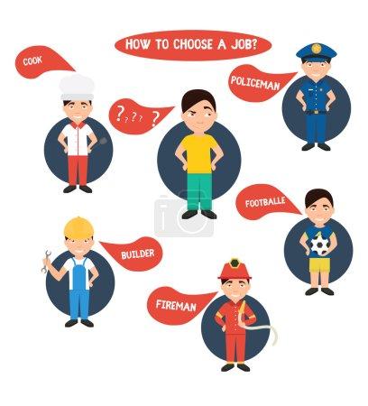 Choosing profession illustration