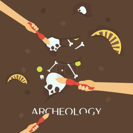 Archeology science. Ancient fossils.