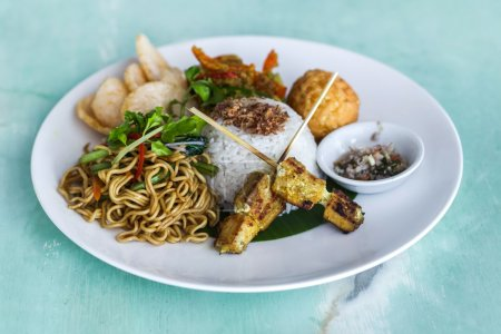 Indonesian traditional meal Nasi Champur, fried rice