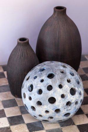 Decorative stone lamp