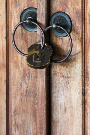 Big iron padlock