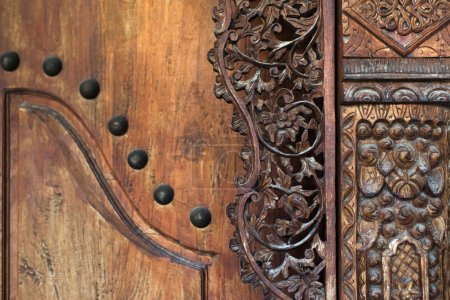 Wood carving part