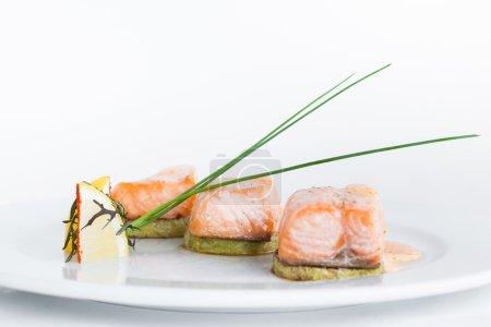 Tasty sushi on plate