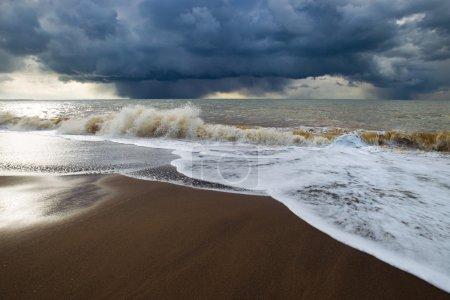 Big waves on sea