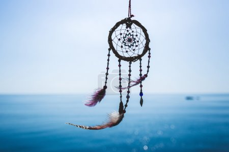 Dream catcher on the sea background...