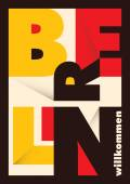 Berlin poster with typography