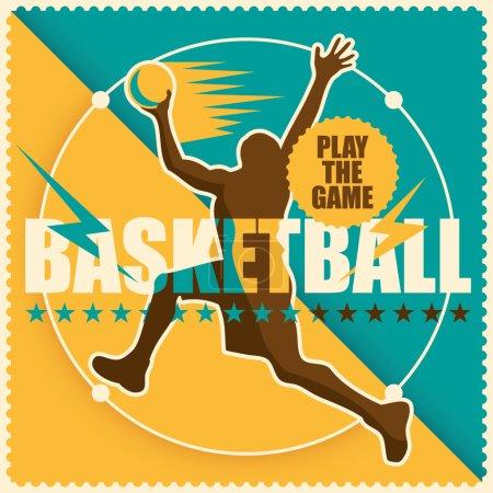 Retro basketball poster.