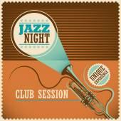 Retro jazz poster