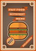Retro poster for fast food restaurant