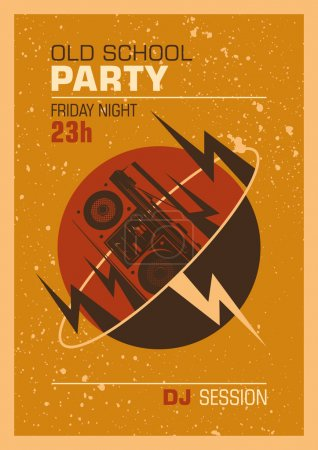 Old school party poster design.