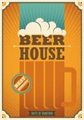 Beer house poster with retro design