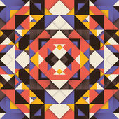 Geometric illustration with colorful abstraction