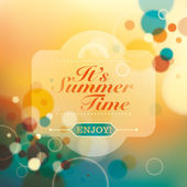 Vintage summer background with abstraction Vector illustration