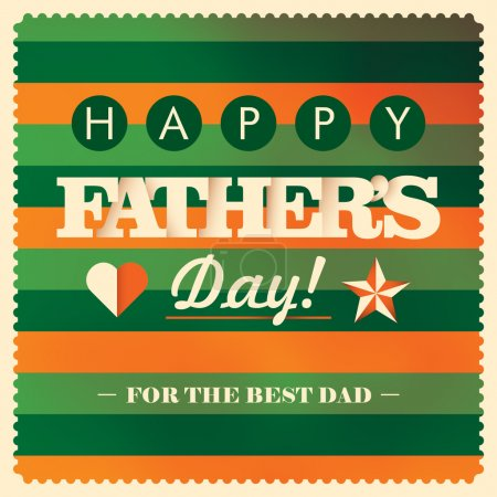 Colorful father's day card.