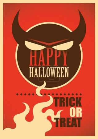 Halloween poster design.
