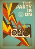 Party poster design with abstraction