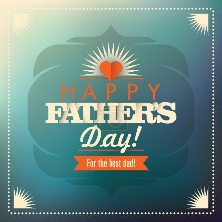 Vintage design of father's day card.