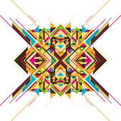 Modern arabesque with geometric shapes