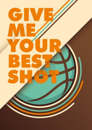 Modern basketball poster.