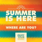 Colorful summer background illustration Vector illustration