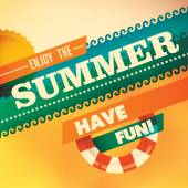 Colorful summer background with modern design Vector illustration